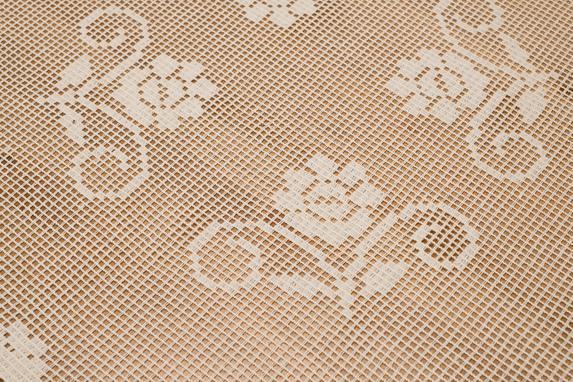 150x220 cm prostokąt szydełko BEŻ (303-1D-45) (3)