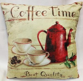Poszewki WELUROWE COFFEE TIME -paczka 6 szt (F3077-7)