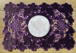 30x45 cm serwetka haftowana FIOLET-paczka 6 szt (128035-4,5)