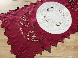 60x120 cm bieżnik haftowany BORDO (128035-15)